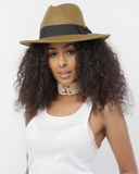 BRIXTON Wool Fedora Hat in Olive Green at FLYJANE | Fedora Hat | Cute Fedora Hats under $50 | Stylish Accessories Hat for Spring 2017 | Wool Fedoras