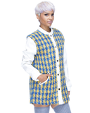 UPTOWN BOUND Houndstooth Coat in White by Endless Rose at FLYJANE