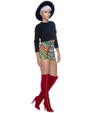 JUDY Knee Boot in Red at FLYJANE (  Liliana BOHO-10 Boot )