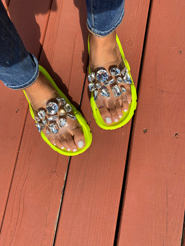 SPARKLE ME BABY SANDAL - YELLOW