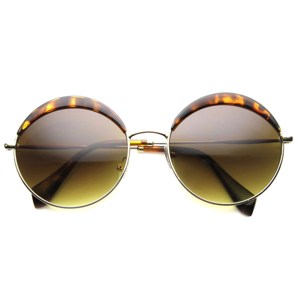 WILLOWS Oversized Round Frame Tortoise Sunglasses at FLYJANE | Cute Summer Sunglasses under $20 | Fashion Sunglasses | Follow us on Instagram at @FlyJane
