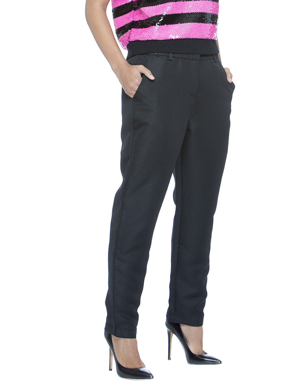ISABELLE Trouser Pant in Black at FLYJANE