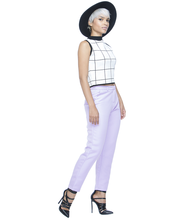 ISABELLE Trouser Pant in Lilac at FLYJANE