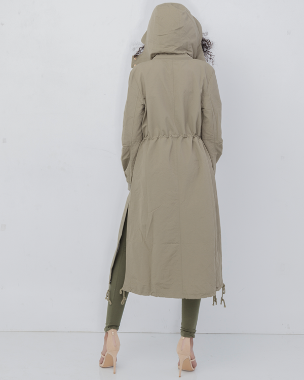 The DYLAN Oversized Parka Jacket in Olive Green at FLYJANE | Cute Oversized Parka | Oversized Jacket | Contemporary Fashion | Streetwear at FLYJANE