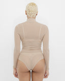CHANTILLY SHEER BODYSUIT - NUDE
