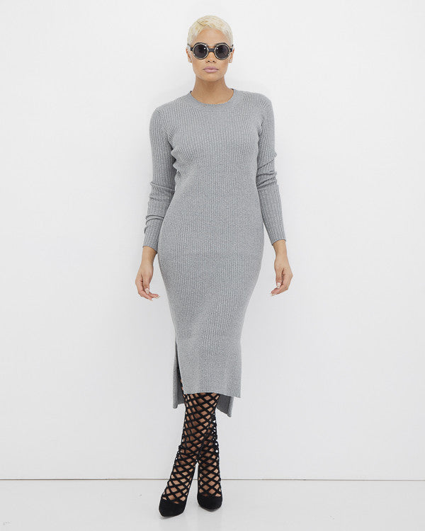 EILEEN RIBBED KNIT MAXI DRESS