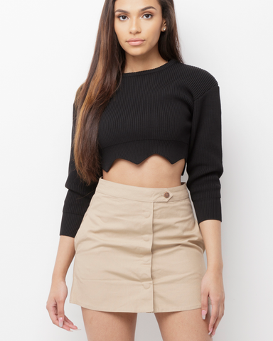 CHARMED AND DANGEROUS Khaki Cargo Mini Skirt at FLYJANE | Cute Military Inspired Cargo Mini Skirt under $50 | Streetstyle at FLYJANE - Follow Us at @FlyJane