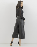 SLICKER THAN YOUR AVERAGE LEATHER CULOTTES