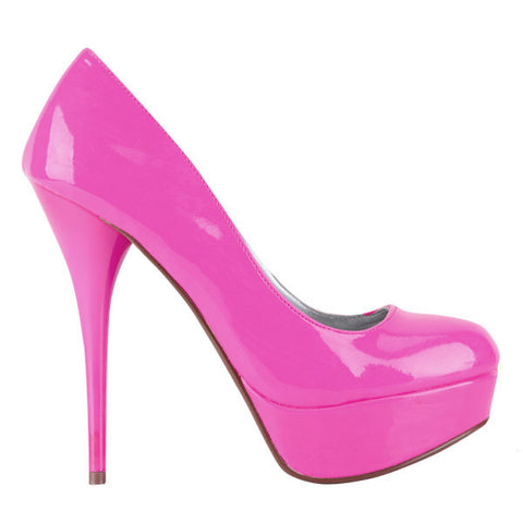QUPID Parallel-09 Neon Pink Platform Pump available at shopFLYJANE.com