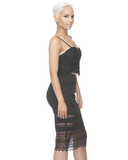 MILEY Lace Midi Skirt at FLYJANE