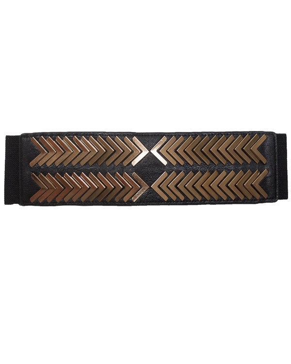 PHOENIX Stretch Belt in White at FLYJANE | Black and Gold Hardware Belt | Follow us on Instagram at @FlyJane | And wear it well. This belt is made in black vega...