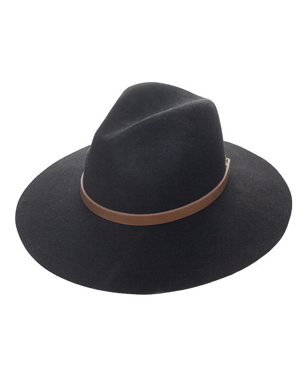 DUPREE WOOL FEDORA HAT - BLACK