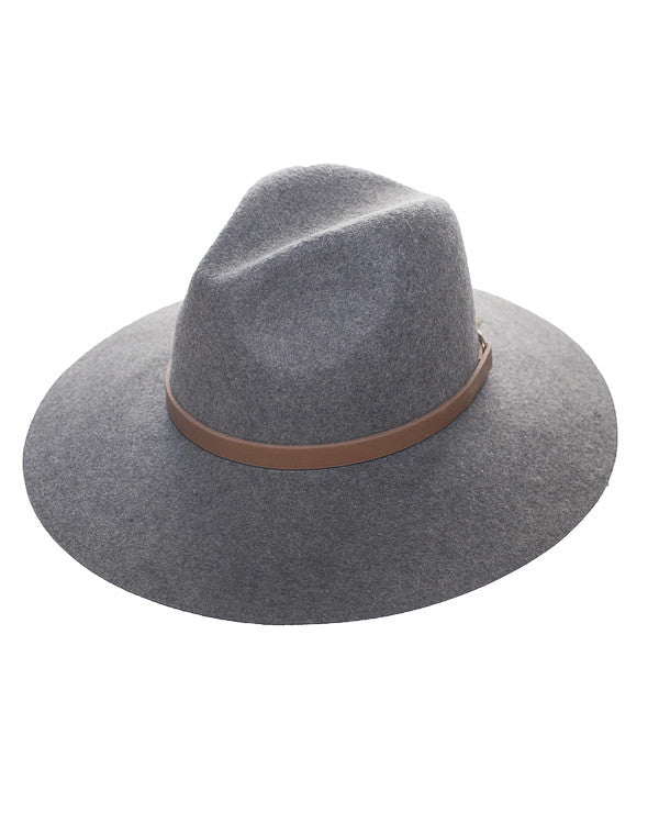 DUPREE Wool Fedora Hat in Grey at FLYJANE | No-Flop Wool Fedoras under $100 | Contemporary Accessories at ShopFlyJane.com | Follow us on Instagram at @FlyJane