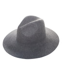 CAMELOT Wool Fedora Hat in Mixed Grey at FLYJANE | Wool No-Flop Structured Brim Fedora Hat under $50 | Follow us on Instagram at @FlyJane