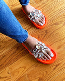 SPARKLE ME BABY SANDAL - ORANGE