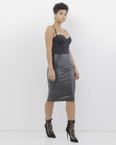 The ROXIE Faux Leather Pencil Skirt at FLYJANE | Leather Midi Skirt | Black Pencil Skirt | Contemporary Clothing for the Boss in You at FLYJANE