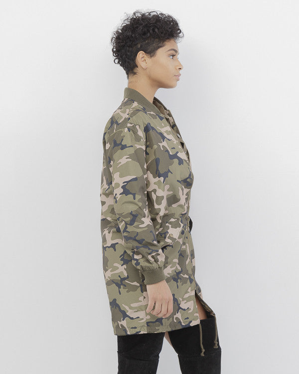 OFF DUTY Camo Anorak Jacket in Olive Green at FLYJANE | Olive Green Camo Jacket | Olive Green Camo Long Anorak Jacket | Fall Fashion 2016 @FlyJane on Instagram