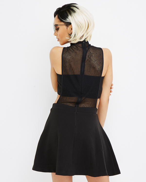 SHEER MADNESS FLARE DRESS