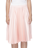 MARILYN Pleated Midi Skirt at FLYJANE