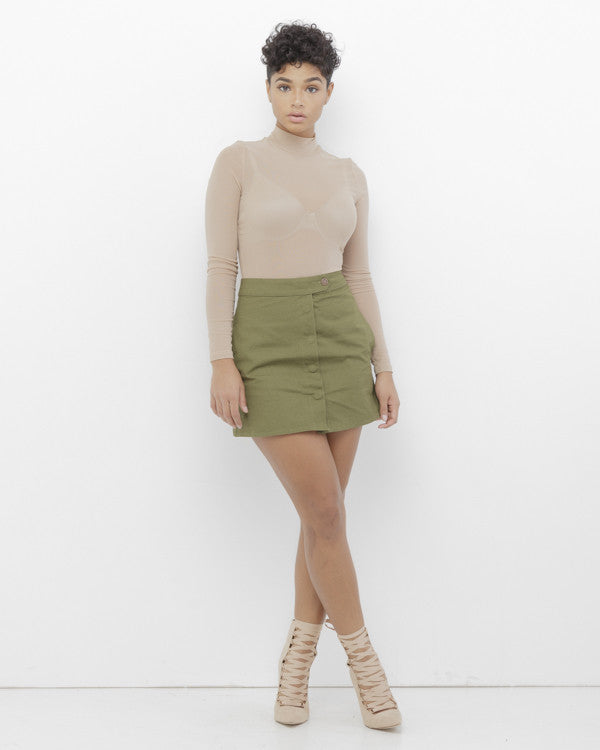 CHARMED AND DANGEROUS Cargo Mini Skirt at FLYJANE | Cute Military Inspired Cargo Mini Skirt under $50 | Contemporary for Less at FLYJANE - Follow Us at @FlyJane