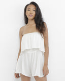REMI Flowy Romper in Off White at FLYJANE | Flowy Rompers | Off White Romper | Off the Shoulder Rompers | Fashion Clothing under $100