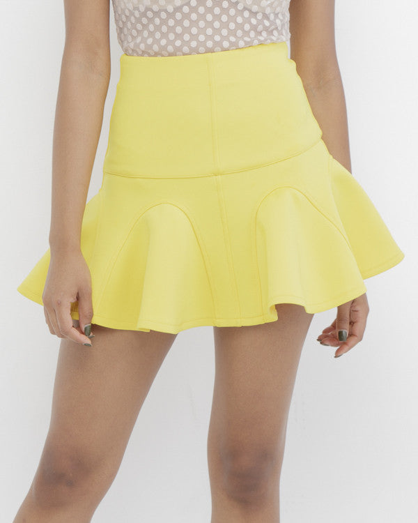 IT GIRLS FAVORITE Skater Skirt in Yellow at FLYJANE