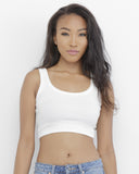 FREE TIME TANK CROP TOP - WHITE