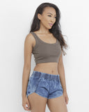 POWER TRIP Acid Wash Denim Dolphin Shorts at FLYJANE | Denim Shorts | Cutoffs | Acid Wash Denim Shorts | Denim Dolphin Shorts