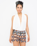 NATAKI Tribal Printed Shorts at FLYJANE | Safari Shorts | Contemporary Shorts