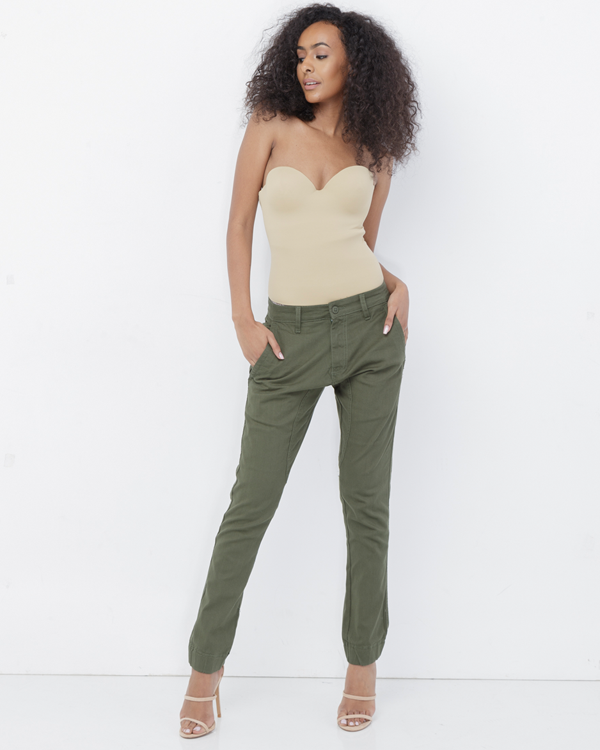 SHAARI Structured Harem Pant in Olive at FLYJANE | Cute Harem Pants | Green Harem Trousers | Follow us on Instagram at @FlyJane | Olive Twill Camo Pants