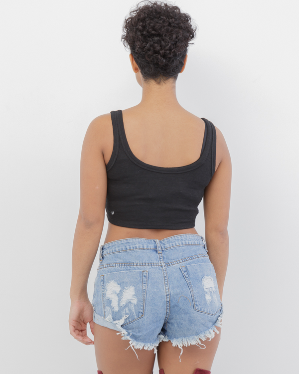 GOOD GENES Distressed Denim Cutoff Shorts at FLYJANE | Cute Denim Cutouts | Distressed Denim Shorts | Basics for your Wardrobe at FLYJANE