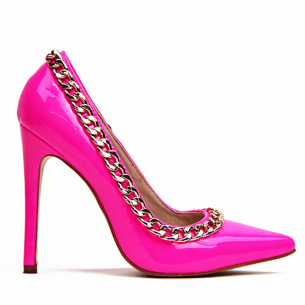 Charm School Patent Pump in Pink at FLYJANE | Red Kiss SO COCO Patent Pump at FLYJANE