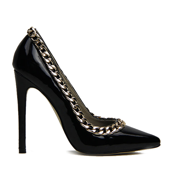 CHARM SCHOOL PATENT PUMP - BLACK