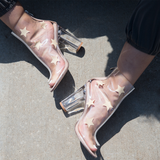 STARELLA CLEAR PERSPEX LUCITE BOOTIE at FLYJANE | Cape Robbin GRACY-2 LUCITE Bootie | Clear Perspex Ankle Boot | Follow us on Instagram @FlyJane