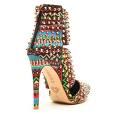 Red Kiss STUD PASSION Tribal Bootie in Multi at FLYJANE