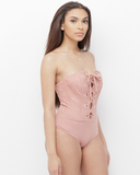 TAHNYA LACE UP BUSTIER BODYSUIT