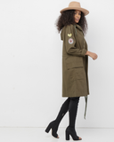 GIRL YES Downtown Parka Jacket at FLYJANE | Cute Military Jacket in Olive Green | Bloggers Style Street Fashion at FLYJANE
