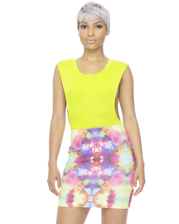 DO OR TIE-DYE BODYCON SKIRT