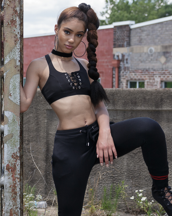 WRECK SHOP Lace Up Crop Top at FLYJANE | Black Lace Up Crop Tops | Black Bralettes | Cute Summer Tops | Streetstyle Fashion | Black Outfits for Summer | Juniors Fashion