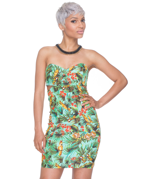 CARIBBEAN SOPHIE CUTOUT DRESS