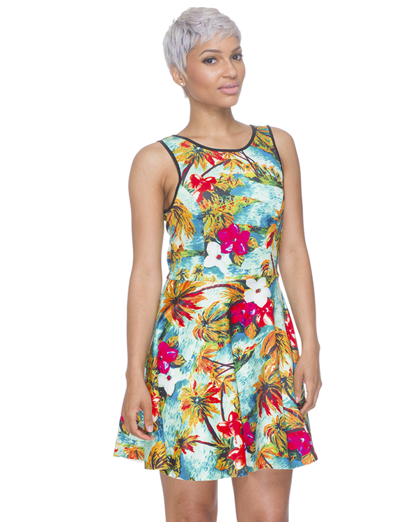 Tahitian Summer Skater Dress at ShopFlyJane.com