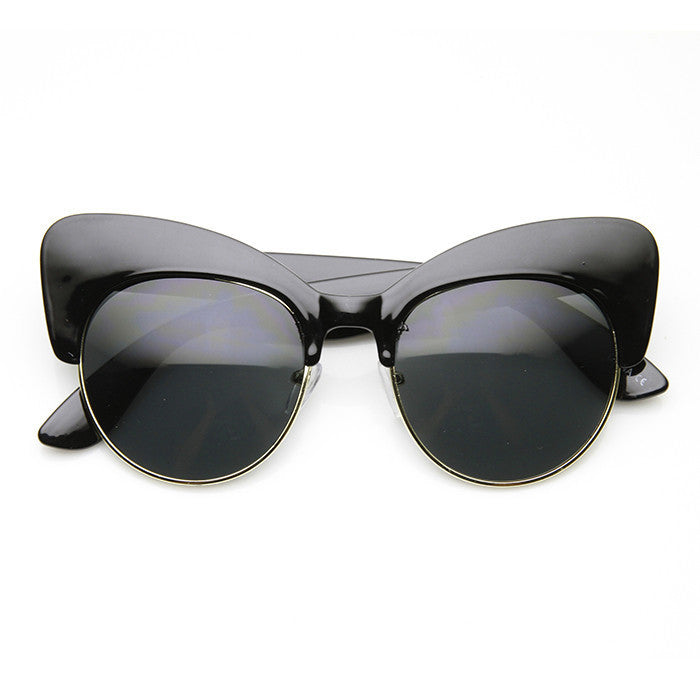 COOL CAT Cat Eye Sunglasses in Black at FLYJANE | Spring 2015 | Cute Sunglasses | Contemporary Frames
