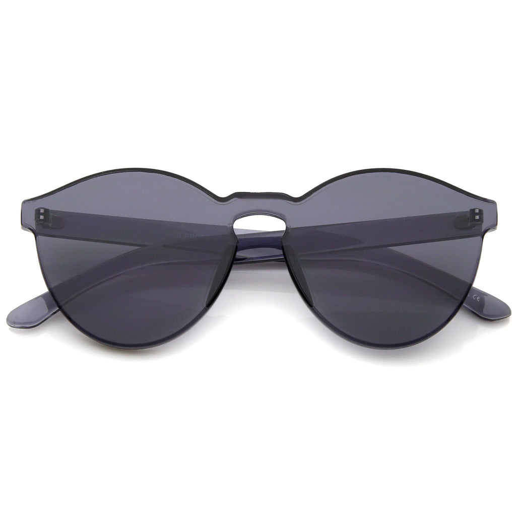 GET DAZED COLORED RIMLESS SUNGLASSES - BLACK