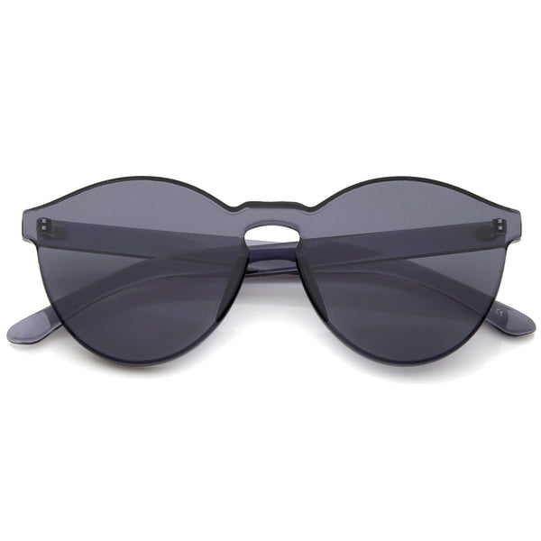 GET DAZED Black Tinted Rimless Sunglasses at FLYJANE | Rimless Black Tinted Sunglasses | Monoblock Black Frames  | Fashion Frames under $50 | Black Frames