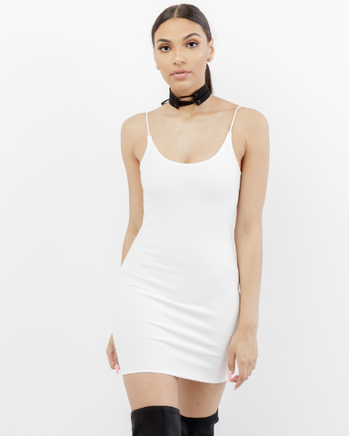 THE BAE Mini Dress in White at FLYJANE | White Spandex MiniDress | Cute Bodycon Dresses under $50 | White Dresses | Cute Dresses under $50 | Cute Cocktail Dress