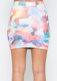 Watercolor Body Con Skirt at FLYJANE