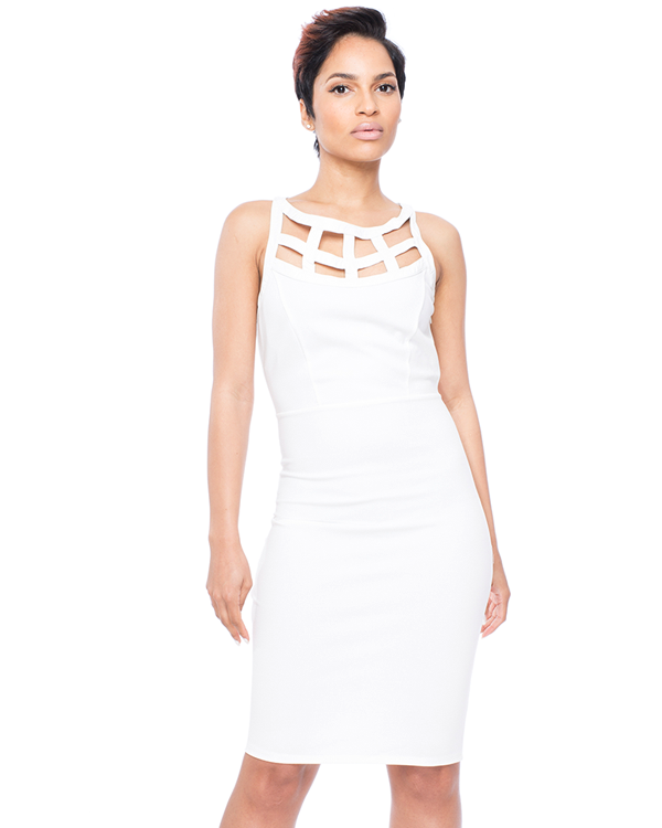 WALK THIS WAY Midi Bodycon Dress at FLYJANE