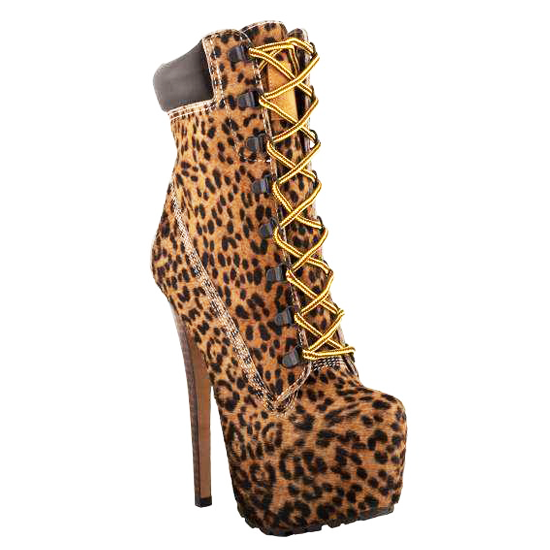 ZIGIny  Z-JO Stiletto Boot in Leopard Pony at ShopFlyJane.com