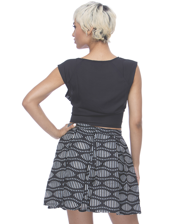 CAROLINE Pleated Skirt Set at FLYJANE