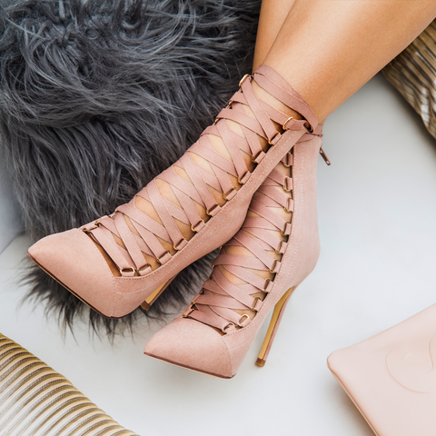 THE AVALON LACE UP BOOTIE - MAUVE